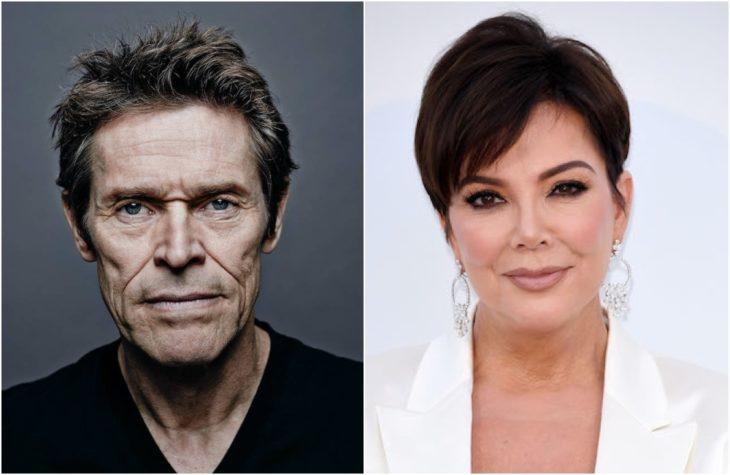 Duplas de celebridades que tienen la misma en comparación con Willem Dafoe y Kris jenner