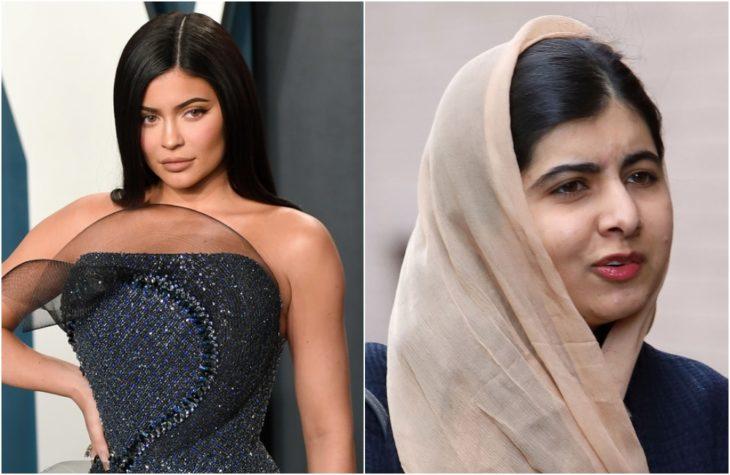 Duplas de celebridades que tienen la misma en comparación con Kylie Jenner y Malala
