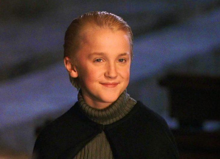 Draco Malfoy en la primer película de Harry Potter