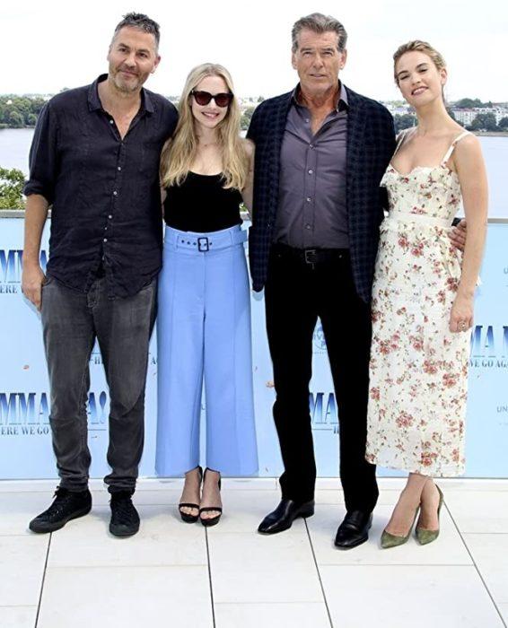 Parte del elenco de la película Mamma Mia! Here we go again