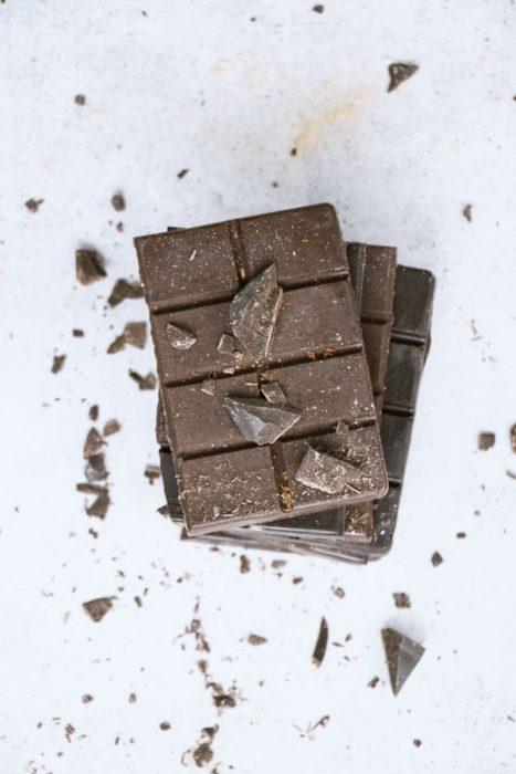 Barra de chocolate oscuro