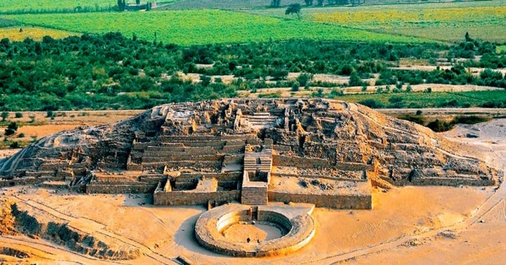 Monumento Arqueológico de Caral en perú