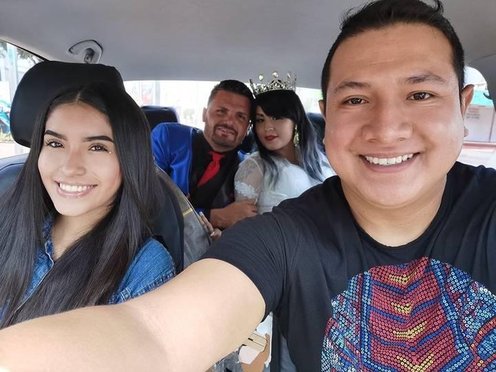 Andre y Gustavo en el uber