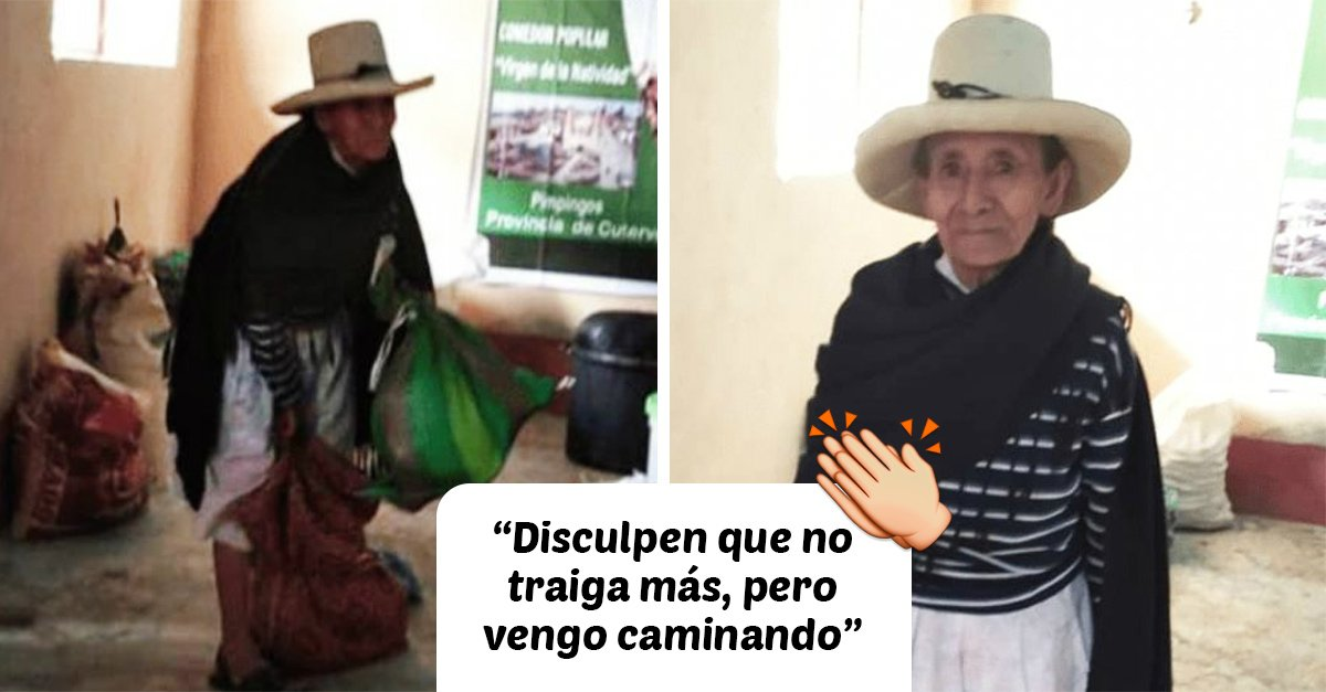 Abuelita decide ayudar a los más necesitados donando su cosecha