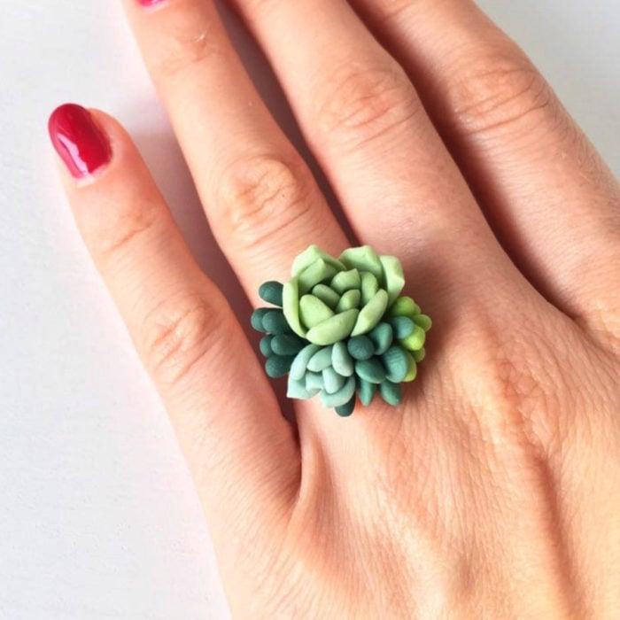 Accesorios de suculentas; anillo