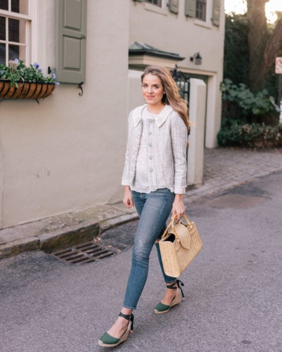 Outfit with espadrilles with accessories