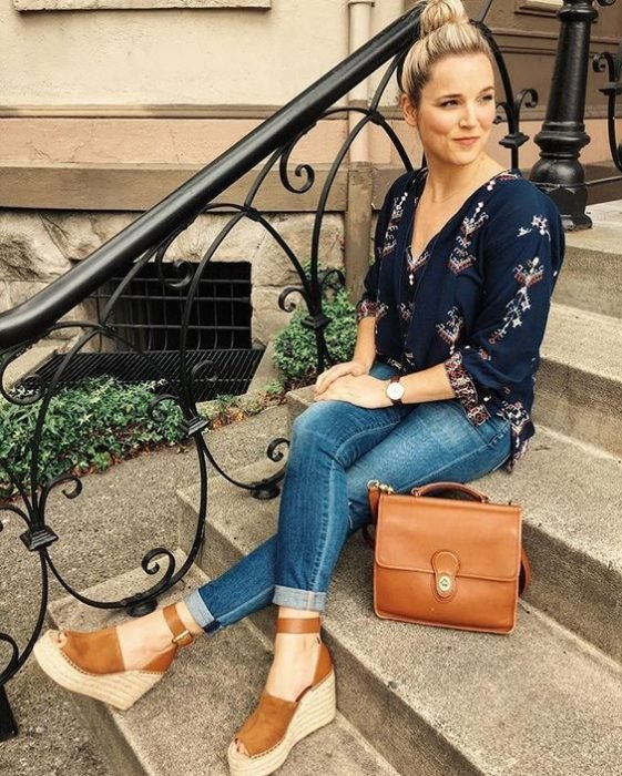Outfit with espadrilles and accessories match
