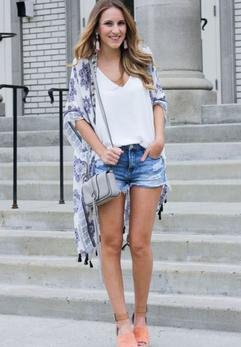 Outfit with espadrilles and assembly