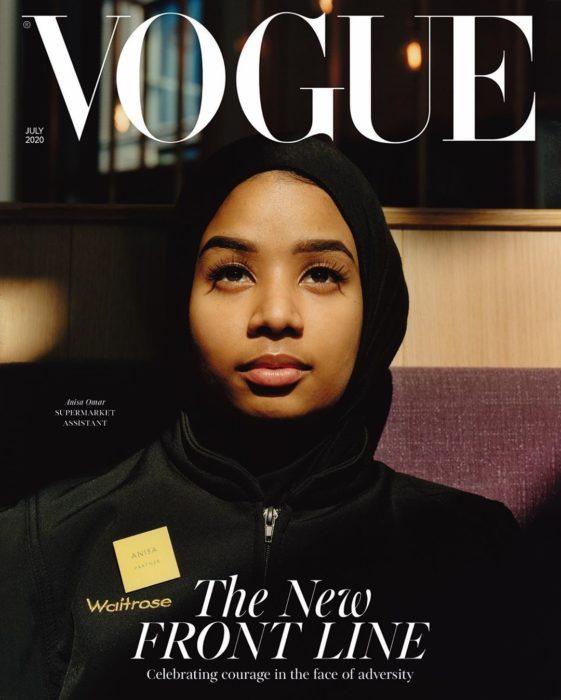 Anisa Omar, asistente de supermercado, en la portada de Vogue