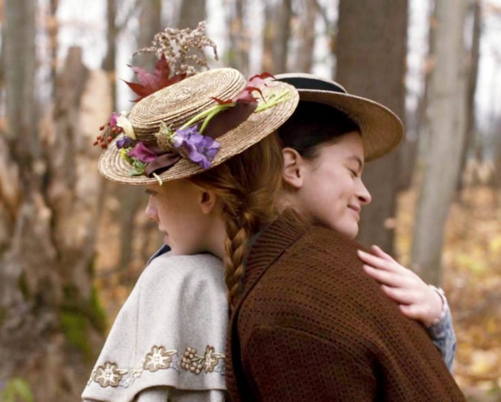 Anne With an E; Anne Shirley Cuthbert, Diana Barry, Amybetj McNulty, Dalila Bela