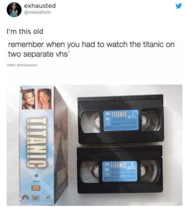 Artículos vintage que te harán sentir viejo; Titanic VHS