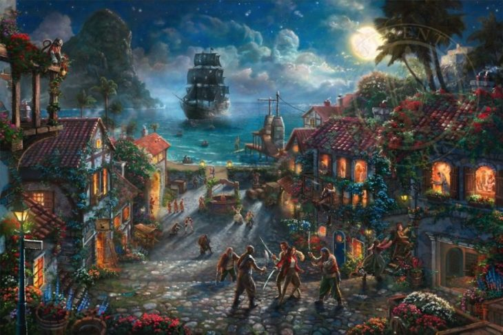 Ilustración Piratas del Caribe