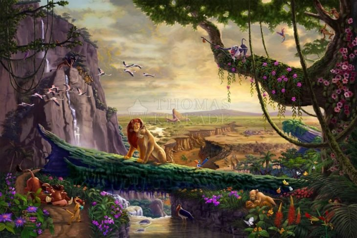 Ilustración El rey León