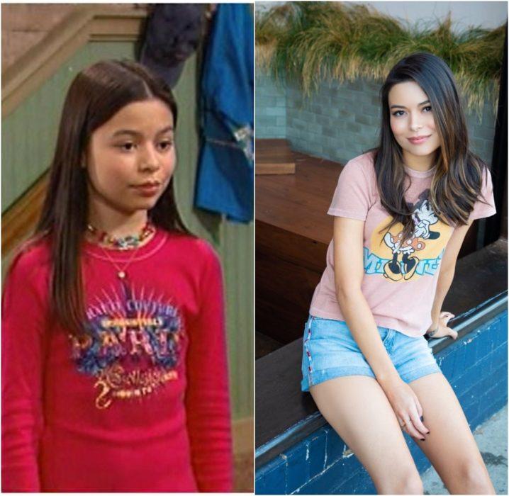 Mirando Cosgrove antes y después de estar en el programa de Nickelodeon Drake & Josh