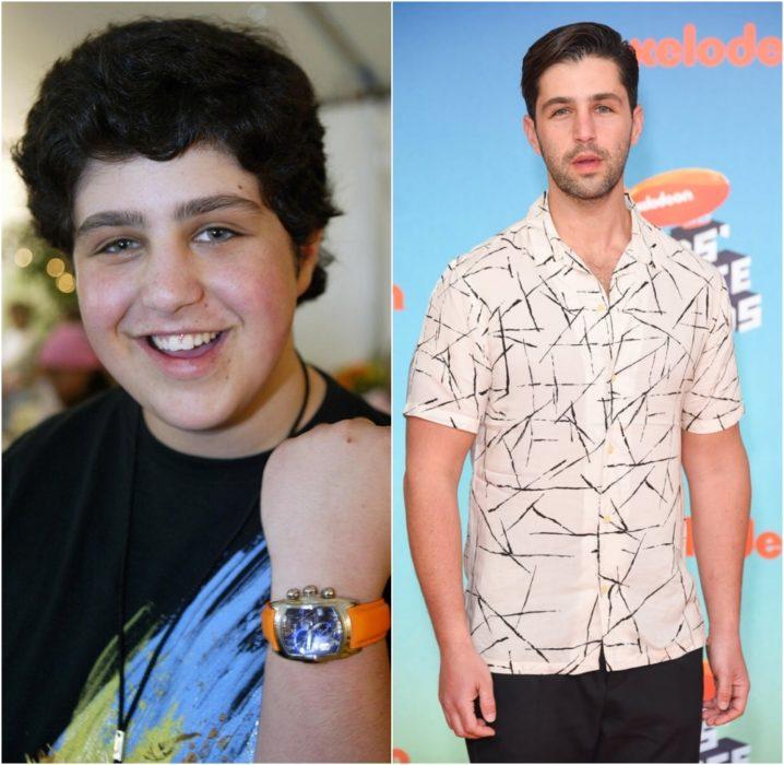 Josh Peck antes y después de estar en el programa de Nickelodeon Drake & Josh