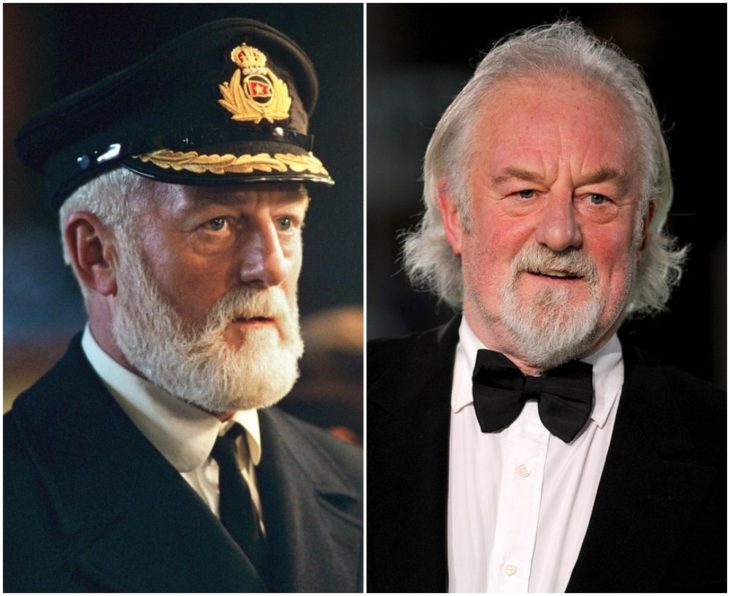 Capitán Edward James Smith interpretada por Bernard Hill en Titanic