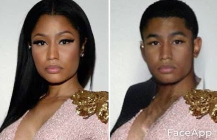 Nicki Minaj si fuera hombre FaceApp