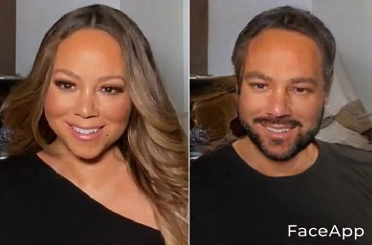 Mariah Creay si fuera hombre FaceApp