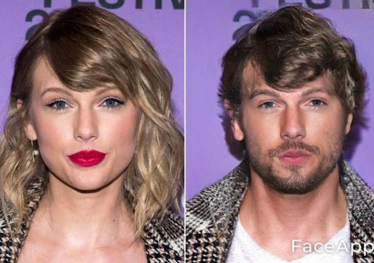 Taylor Swift si fuera hombre FaceApp