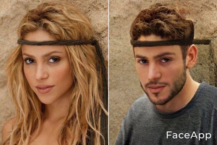 Shakira si fuera hombre FaceApp