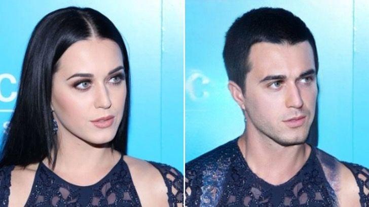 Katy Perry si fuera hombre FaceApp