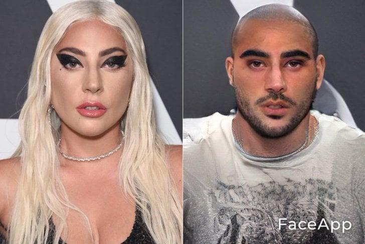 Lady Gaga si fuera hombre FaceApp