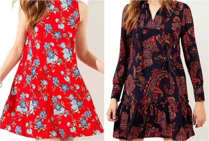 Chicas con vestidos floreados