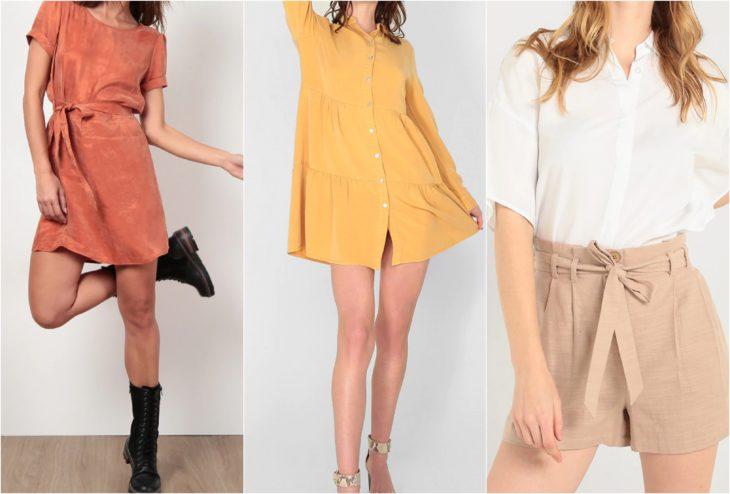 Chicas con ropa de temportada de calor