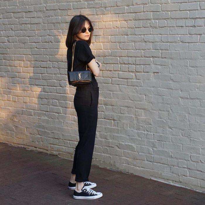 Total black outfit para vernano y entretiempo