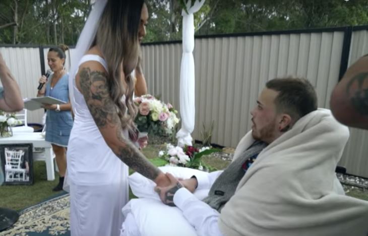 Maia y Navar en su matrimonio