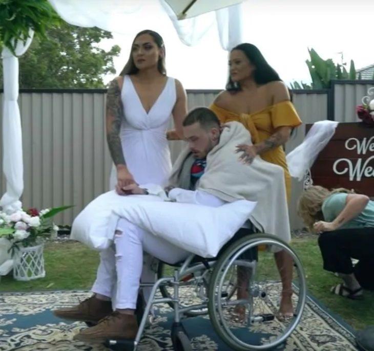 Foto de Maia y Navar el día de su boda