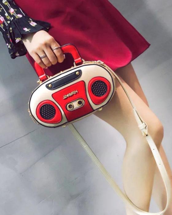 Bolsas kawaii bonitas y originales; bolso de grabadora vintage