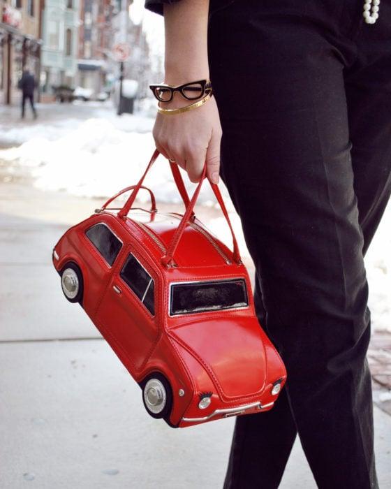 Bolsas kawaii bonitas y originales; bolso de mano de bocho rojo