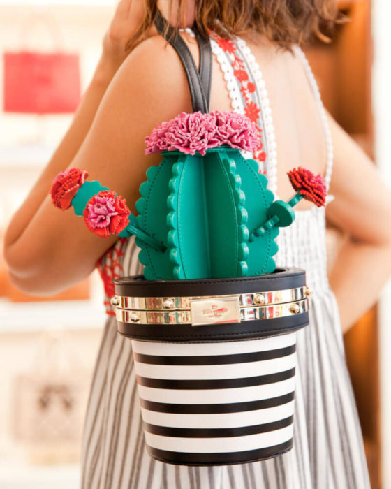 Bolsas kawaii bonitas y originales; bolso de mano de cactus