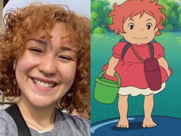 Personas que se parecen a personajes de películas animadas; Ponyo