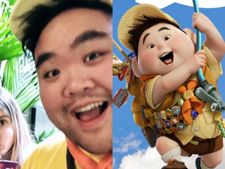 Personas que se parecen a personajes de películas animadas; Up, Russell