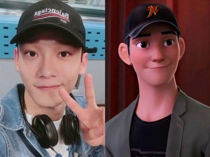 Personas que se parecen a personajes de películas animadas; Tadashi, Big Hero, Grandes Héroes
