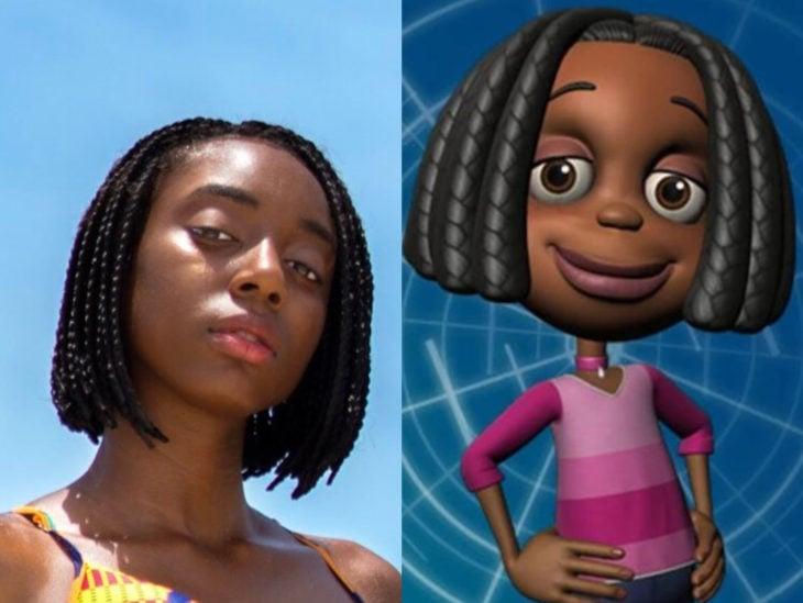 Personas que se parecen a personajes de películas animadas; Jimmy Neutron, Libby