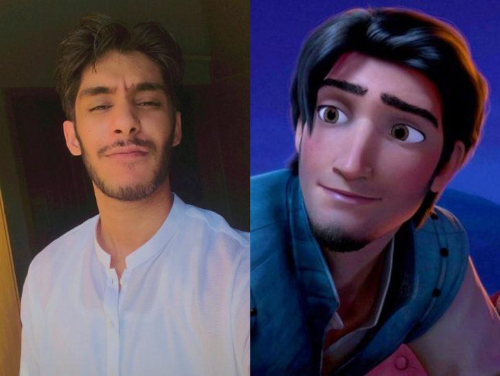 Personas que se parecen a personajes de películas animadas; Tangled, Enredados, Flynn Rider