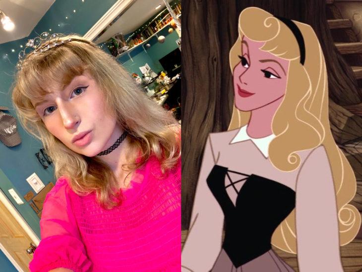 Personas que se parecen a personajes de películas animadas; Aurora, La bella durmiente