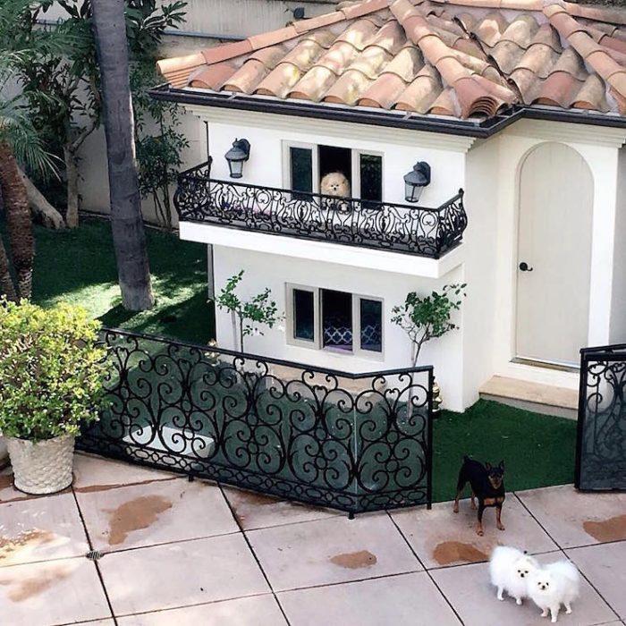 Mini mansión de los perros de Paris Hilton