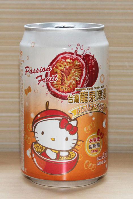 Cerveza de Hello Kitty sabor fruta de la pasión