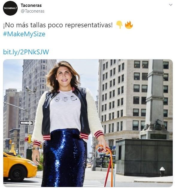 Tuits sobre el movimiento MakeMySize que pone en jaque las tallas de la ropa de marca