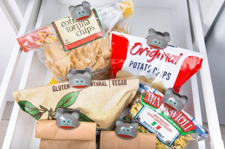 Clips en forma de animalitos para alimentos