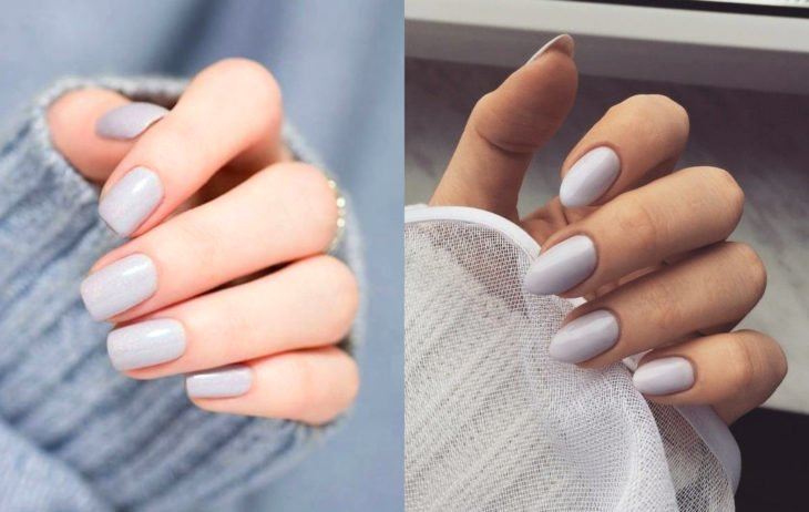 Manicure colors; gray or polar white