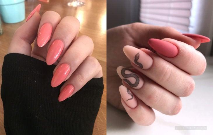Colores de manicura; coral