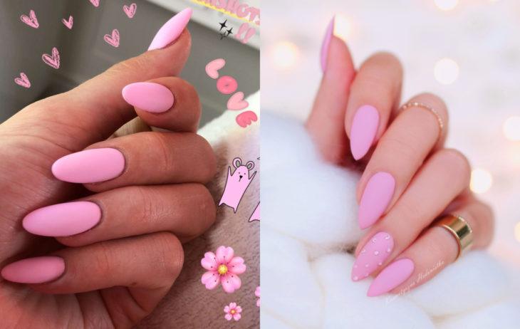 Colores de manicura; rosa chicle