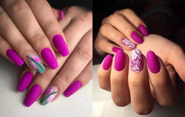 Colores de manicura; fucsia
