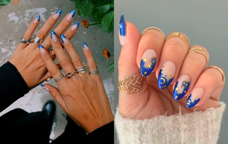 Colores de manicura; azul cerúleo