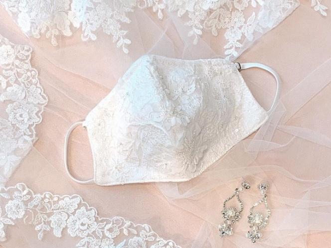 Diseñan cubrebocas de novias para dar el 'SÍ' con estilo